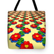 Heart Flowers Tote Bag