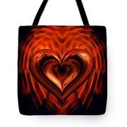 Heart In Flames Tote Bag