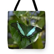Heart Leaf Butterfly Tote Bag