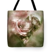 Heart Of A Rose - Antique Pink Tote Bag
