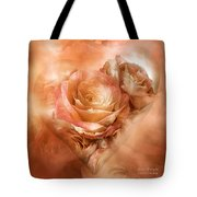 Heart Of A Rose - Gold Bronze Tote Bag