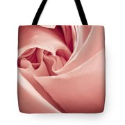 Heart Of A Rose In Pink Tote Bag