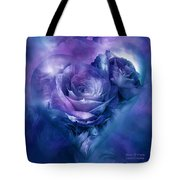 Heart Of A Rose - Lavender Blue Tote Bag