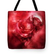 Heart Of A Rose - Red Tote Bag