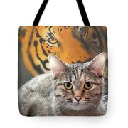 Heart Of A Tiger Tote Bag