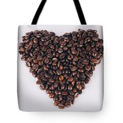 Heart Of Coffee Beans Tote Bag