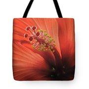 Heart Of Hibiscus Tote Bag