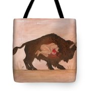 Heart Of The Buffalo Tote Bag