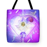 Heart Of The Violet Flame Tote Bag