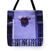 Heart On Wall Tote Bag