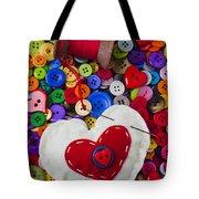 Heart Pushpin Chusion  Tote Bag