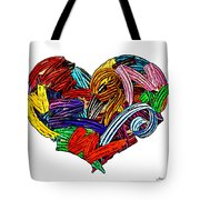 Heart Ribbons Tote Bag