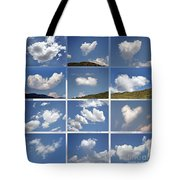 Heart Shaped Clouds - Collage Tote Bag