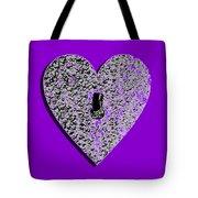 Heart Shaped Lock Purple .png Tote Bag