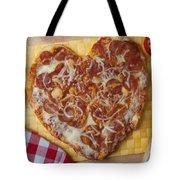 Heart Shaped Pizza Tote Bag