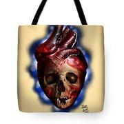 Heart Skull Tote Bag