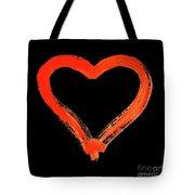 Heart - Symbol Of Love - Watercolor Painting Tote Bag