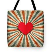 heart with ray background Tote Bag by Setsiri Silapasuwanchai