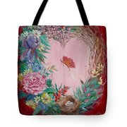 Heart Wreath Tote Bag