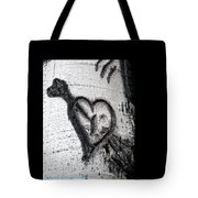 Heart Written In The Trees 3 Tote Bag