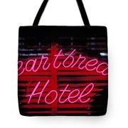 Heartbreak Hotel Neon Tote Bag by Garry Gay