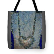 Hearted On Your Wall Again Medalion Painting Tote Bag