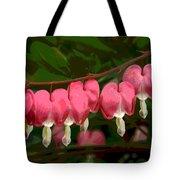 Hearts A' Flutter Tote Bag