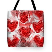 Hearts Afire Abstract Tote Bag