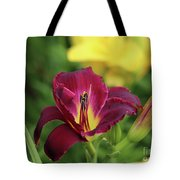 Hearts Afire Daylily Tote Bag