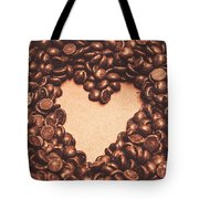 Hearts And Chocolate Drops. Valentines Background Tote Bag