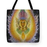 Heart's Fire Buddha Tote Bag