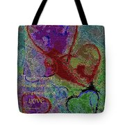 Hearts Knit Together In Love Tote Bag