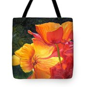 Hearts Of Poppies Tote Bag