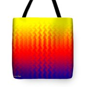 Heat Wave Abstract Design Tote Bag