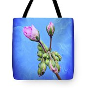 Nature Botanical Floral Pink Flowers Geranium Blooms  Tote Bag