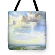 Heavenly Clouded Beauty Abstract Realism Tote Bag