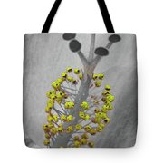 Heavenly Hibiscus Bw Yellow 13 Tote Bag