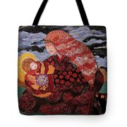 Heavenly Mother And Child Tote Bag