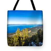Heavenly South Lake Tahoe View 1 - Right Panel Tote Bag