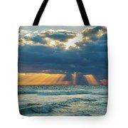 Heavenly Sunrise Panorama At Riviera Beach  Tote Bag