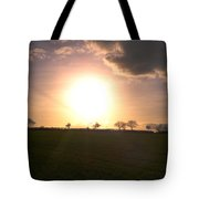 Heavenly Sunset Over Suffolk Tote Bag