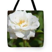 Heavenly White Rose Tote Bag