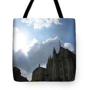 Heavens Above Mont St. Michel Abbey Tote Bag