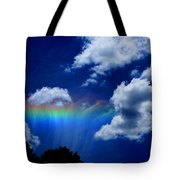Heavens Rainbow Tote Bag