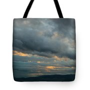 Heavy Clouds Over Mountains Tote Bag