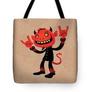 Heavy Metal Devil Tote Bag by John Schwegel