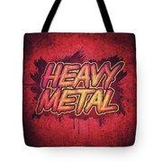 Heavy Metal Red Splatter Typo Design   Tote Bag
