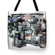 Heavy Truck Diesel Engine Isolated Tote Bag