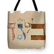 Hebrew Calligraphy-avigad Tote Bag