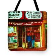 Hebrew Delicatessen Tote Bag